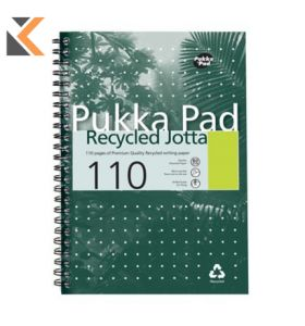 Pukka A5 White Recycled Wirebound Pads (Ruled/Margin) - Pack of 5 [5X55 Sheets]