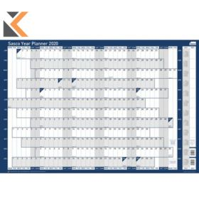SASCO MOUNTED ORIGINAL YEAR PLANNER - [915 X 610MM]