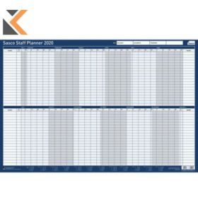 SASCO MOUNTED STAFF YEAR PLANNER - [915 X 610MM]