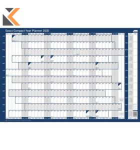 SASCO UNMOUNTED COMPACT LANDSCAPE YEAR PLANNER - [610 X 405MM]