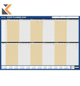 SASCO UNMOUNTED STAFF YEAR PLANNER - [915 X 610MM]