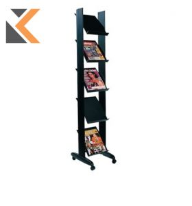 Free Standing Literature Holder Display Stand - 5 Shelves For Documents A4
