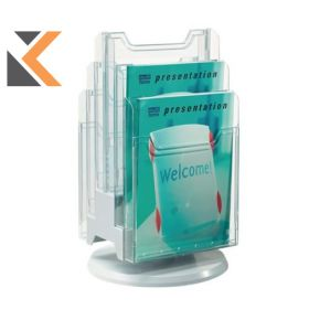Exacompta Rotating Counter Display, A4 Portrait, 6 Pockets - [315X315X465mm]