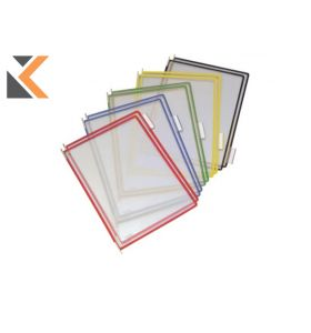 Tarifold Assorted A4 Colours Pivoting Pockets For Tarifold Displays - [Pack of 10]