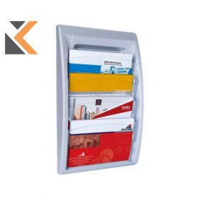 Paperflow Quick Fit Wall Display Aluminium - [4X 24X32cm]