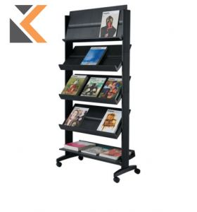 Free Standing Literature Holder Display Stand - 15 Shelves For Documents A4