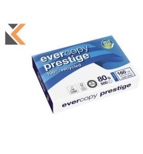 Evercopy-Prestige Recycled White Paper A4 80Gsm - [Box Of 5 Reams, 5X500 Sheets]