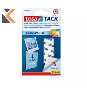 Tesa Tack Adhesive Pads Transparent - [Pack of 72]