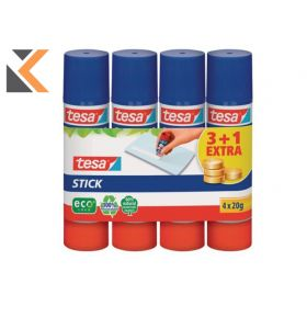 Tesa Eco Glue Stick - Pack of 4 - [Includes 1 Free Stick]