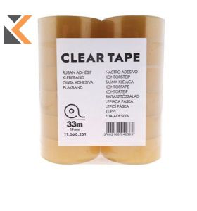 Clear Tape 19mmx33M - [Pack of 24]