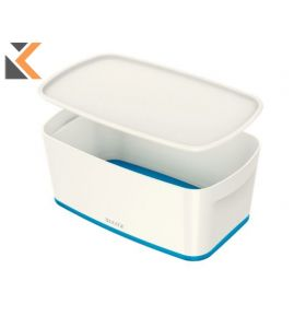 Leitz Mybox Small With Lid, Storage Blue Box - [5 Litre]