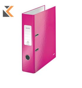 Leitz 180° Wow Laminated A4 , Spine, Lever Arch File Pink - [80mm]