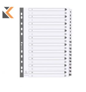 Exacompta Guildhall Mylar Dividers White A4 - [1-120]