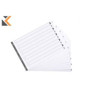 Exacompta Guildhall Mylar Dividers White A3 - [1-10]