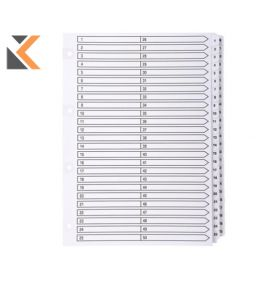 Exacompta Guildhall Mylar Dividers A4 White - [1-50]