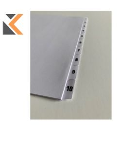 Tab Dividers 1-10 Laminated Unpunched A4 - [Pk50]