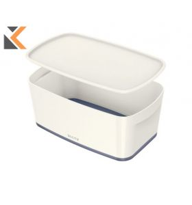 Leitz Mybox Small With Lid, Storage Box Grey - [5 Litre]