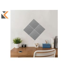 Stick & Mix Grey Notice Boards 30X30cm - [Pack of 4]