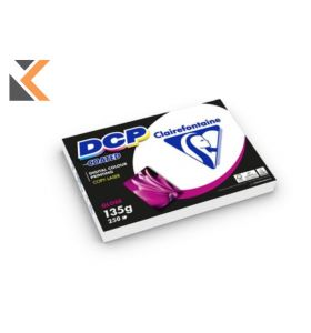 Clairefontaine Dcp-Coated Glossy White Paper A4 135Gsm - [1 Ream Of 250 Sheets]