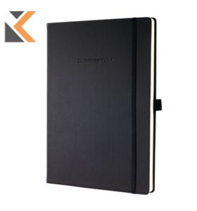 Sigel CO112 Hard Cover A4 Notebook Ruled Black