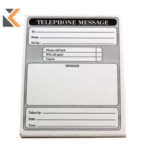 Telephone Message Pads 102 X 127mm - Pack of 10 Pads [10 X 80 Sheets]