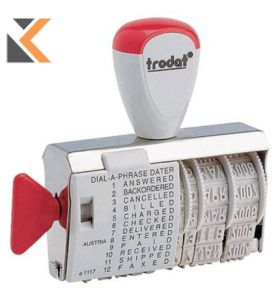 Trodat 1117 Standard Dial-A-Phrase With Date Stamp Character Size - [4mm]