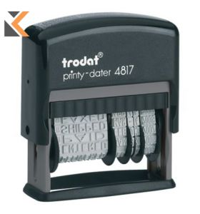 Trodat 4817 Printy Self-Inking Dial-A-Phrase Dater Stampx Character Size - [3.8mm]
