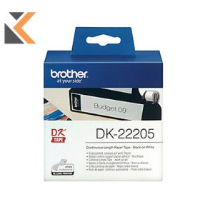 Brother DK22205 Paper Tape Label White - [62mm X 30M]