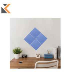Stick & Mix Mid-Blue Notice Boards 30X30cm - [Pack of 4]