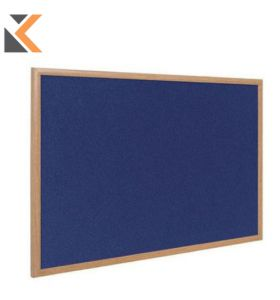 Bi-Office Oak Framed Felt Notice Board - [1800 X 1200mm] Grey*