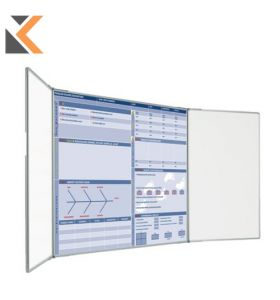 Custom Printed Landscape Magnetic Whiteboard 2 Plain Wings - [900mm X 600mm]