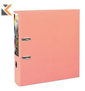 Prem'touch Lever Arch File PP 80mm Salmon - [53305E]