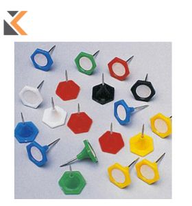 Indicator Drawing Pins Assorted Colour 14mm - [Tub of 20]