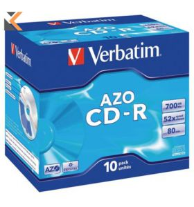 Verbatim CD-R 80Min 700Mb Jewel case - [Pack of 10]