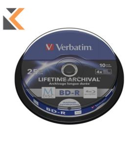 Verbatim M-Disc BD-R 4X Spindle 25Gb - [Pack of 10]