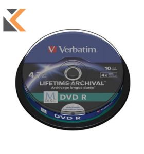 Verbatim M-Disc DVDr4X Spindle 4.7Gb - [Pack of 10]